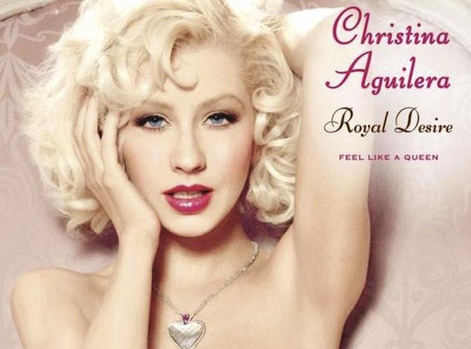 christina aguilera photoshopee pour sa pub Royal Desir