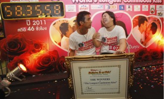 Le record du monde du plus long baiser vient d'être battu!