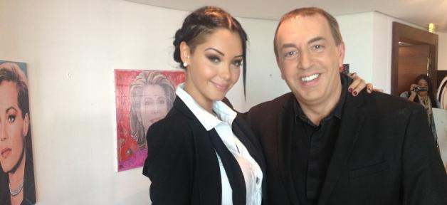 Nabilla avec Jean Marc Morandini avant l»interview