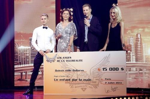 Le chèque pour l'association