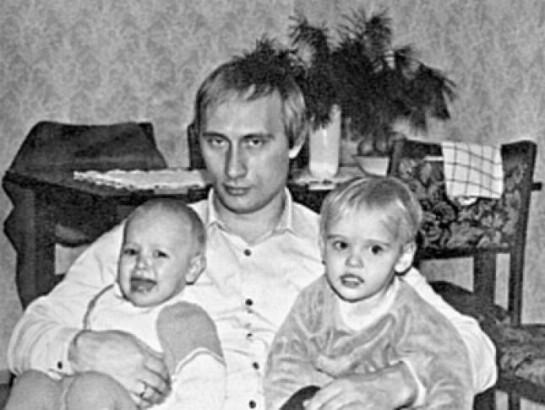 Vladimir Poutine et ses enfants