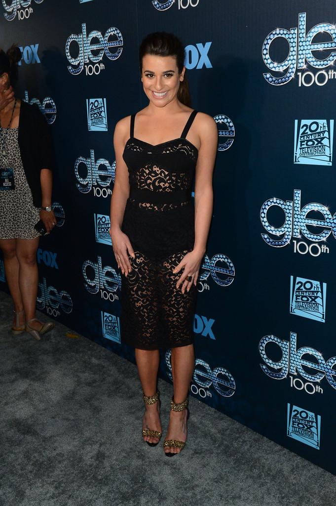 Lea Michele très sexy, ose la robe transparente