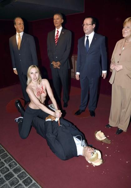 Vladimir Poutine décapité