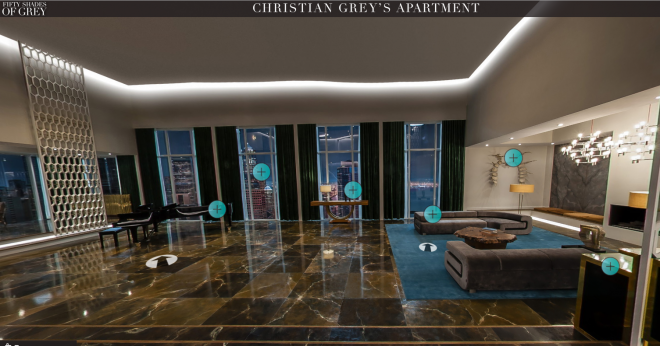 50 nuances de grey visitez la maison de christian grey for Decoration 50 nuances de grey