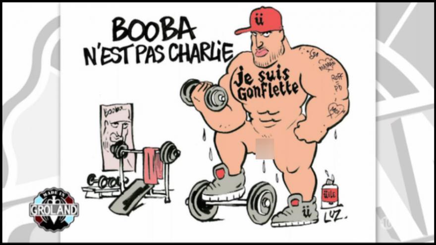 Booba dans Charlie Hebdo