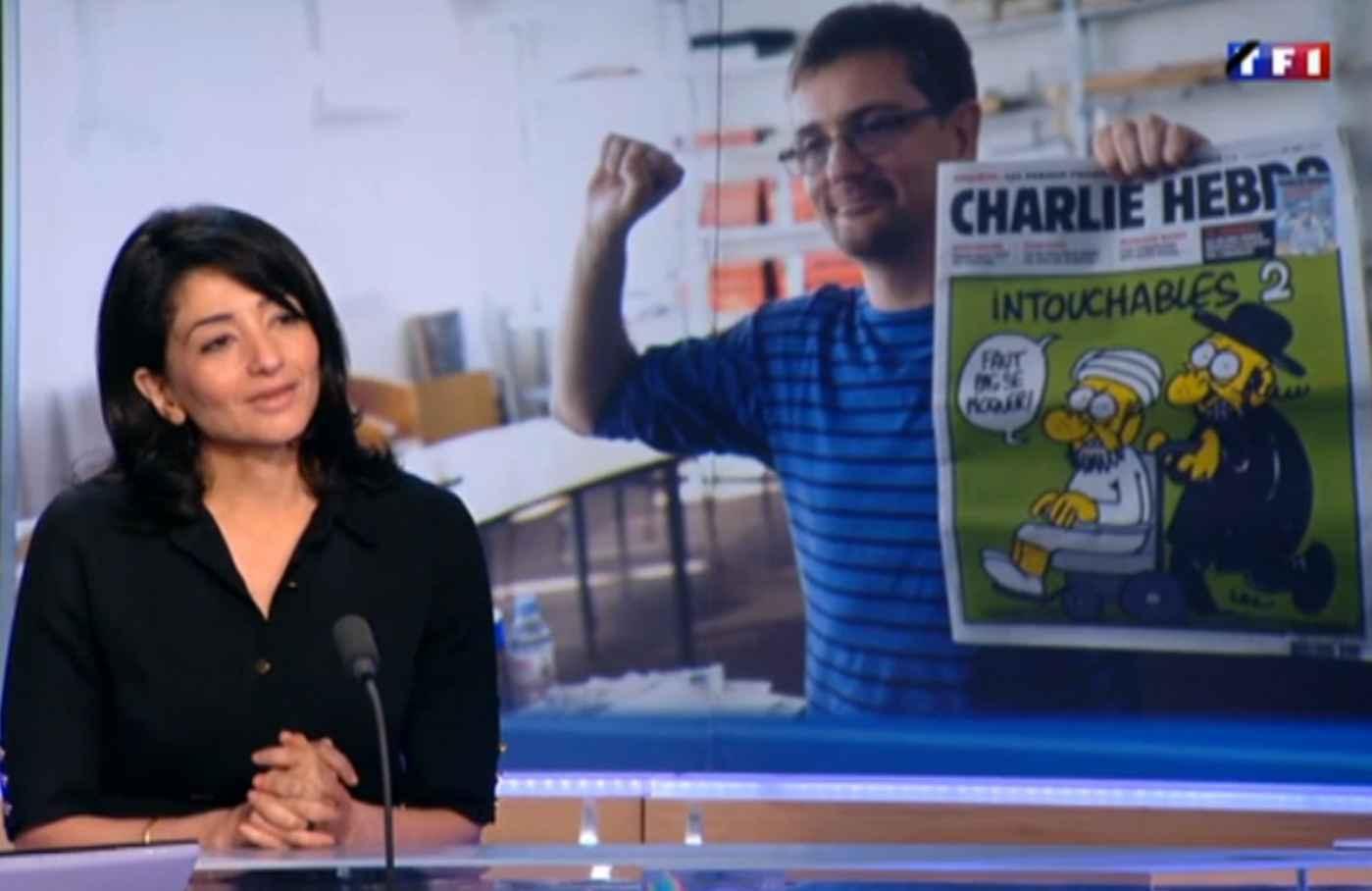Jeannette Bougrab sur le plateau de TF1 le 8 janvier