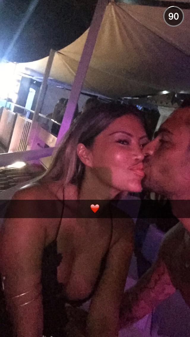 Parisa et Julien sur Snapchat