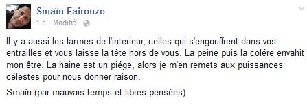 Attentats à Paris : Smaïn Fairouze pleure la mort de son cousin décédé au Bataclan
