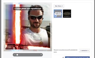 Ajoutez un sabre laser à votre photo de profil sur Facebook