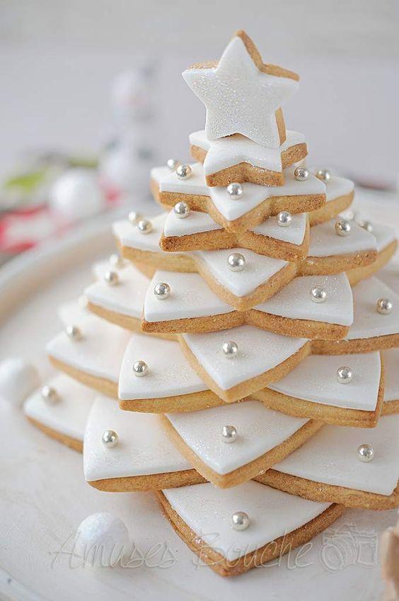 Sapin de Noël biscuits