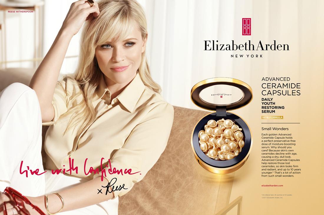 Reese Witherspoon, le nouveau visage de Elizabeth Arden