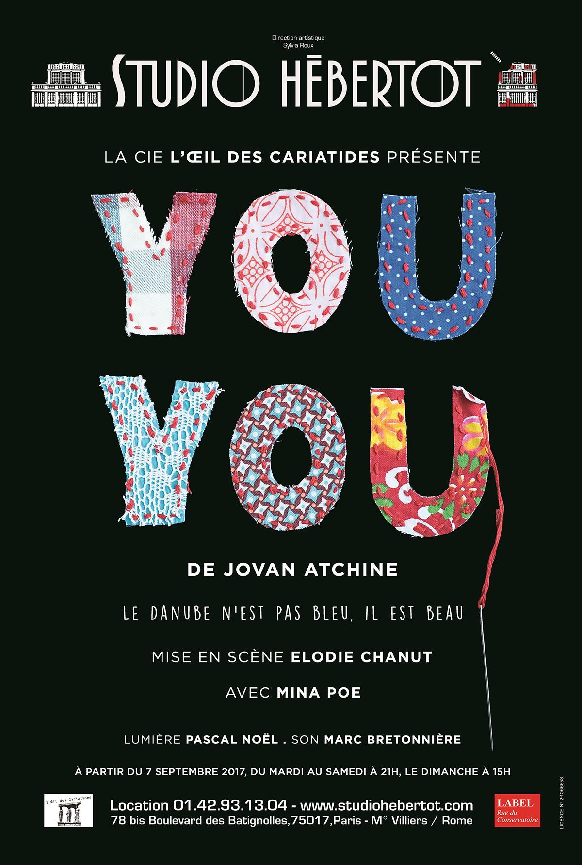 """Concours : Gagnez vos places pour découvrir la pièce de théâtre """"You-You"""""""