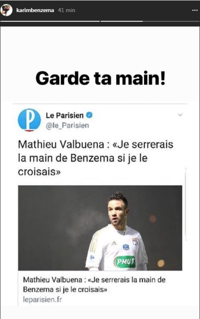 Affaire de la sex-tape : Benzema rejette la main tendue de Valbuena