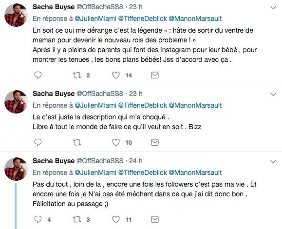 Tweet de Sacha Buyze