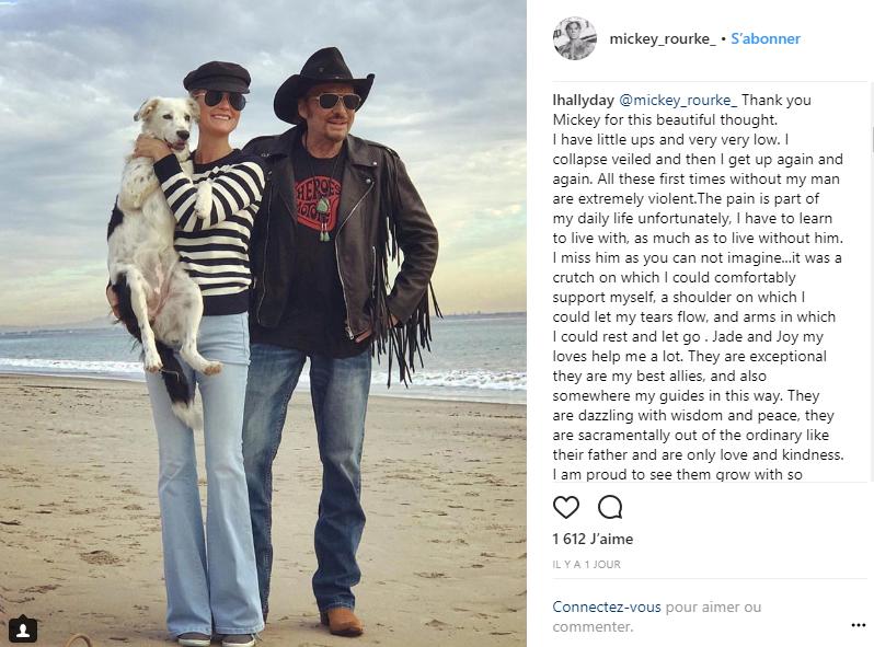 Mort de Johnny Hallyday : Laeticia Hallyday poste un déchirant message sur Instagram