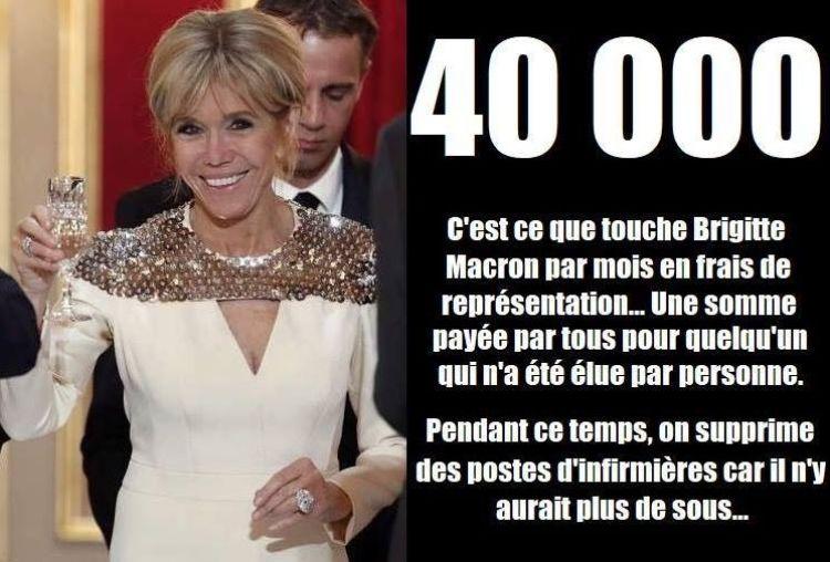 Brigitte Macron : Un salaire de 40 000 euros pour la Première dame ?