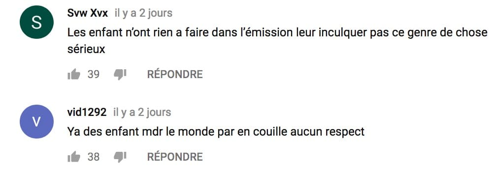 commentaires youtube