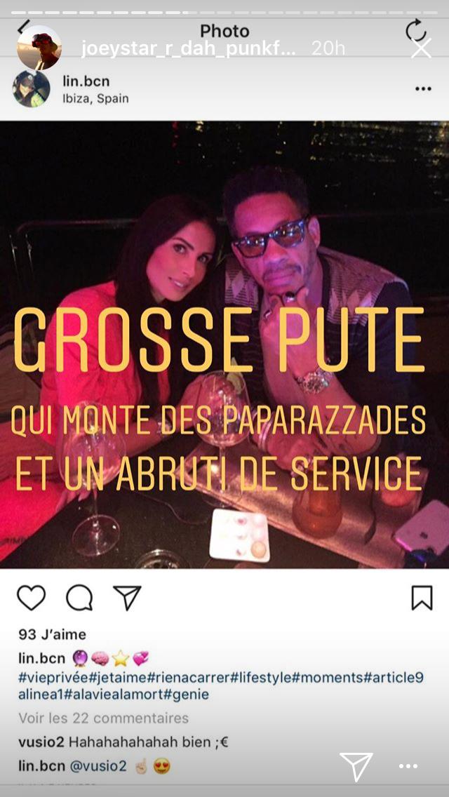 Karine Le Marchand trompée par JoeyStarr ? Le rappeur règle violemment ses comptes sur Instagram…