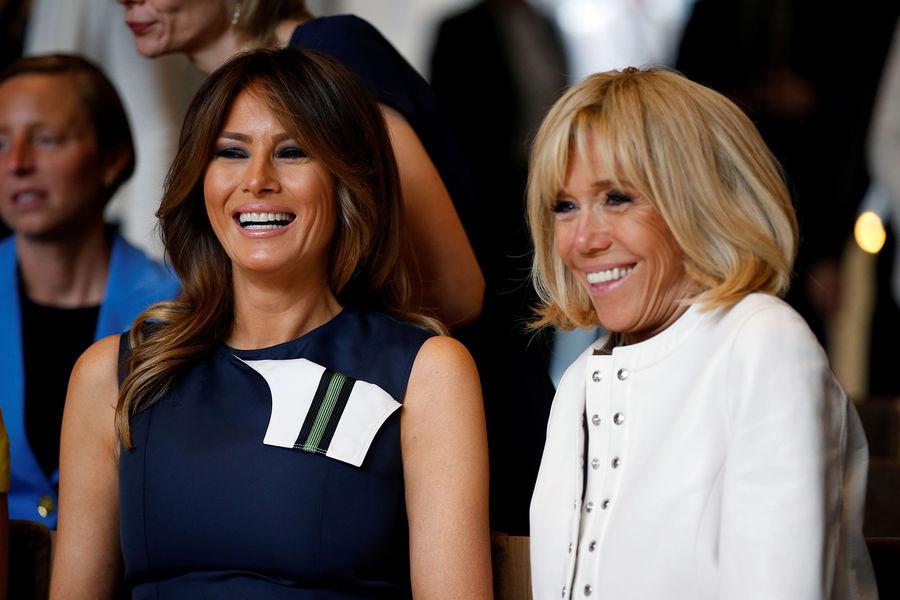Brigitte Macron et Mélania Trump  des retrouvailles chaleureuses en Belgique 2