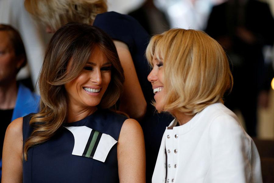 Brigitte Macron et Mélania Trump  des retrouvailles chaleureuses en Belgique 3