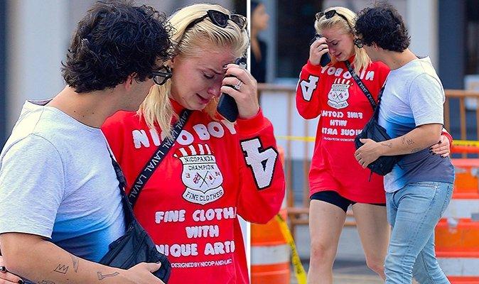 La raison surprenante pour laquelle Sophie Turner pleurait dans les bras de Joe Jonas