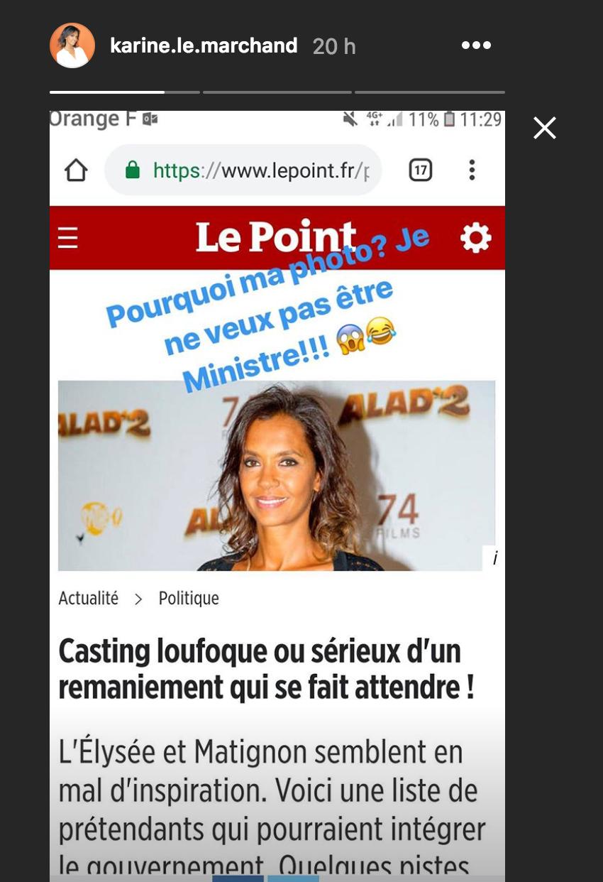 Karine Le Marchand, futur ministre d'Emmanuel Macron ?