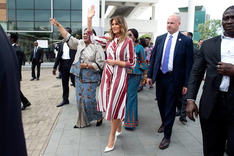 Melania Trump en Egypte: rencontre avec Sissi, visite des pyramides