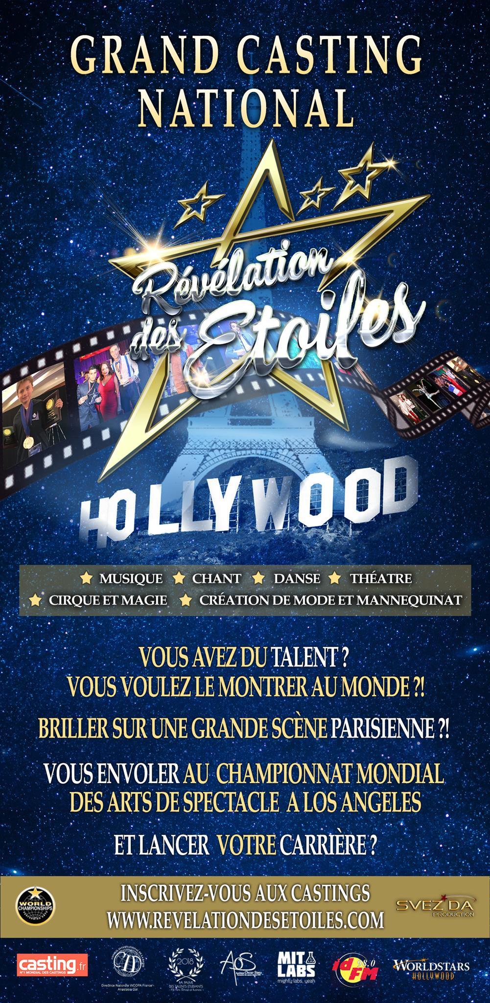 Vous avez du talent ? Participez au concours « Révélation des Étoiles » !