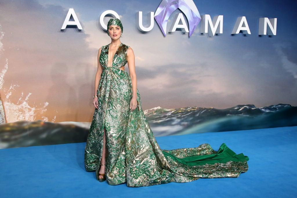 Amber Heard surprend avec son look très original à la première d'Aquaman !