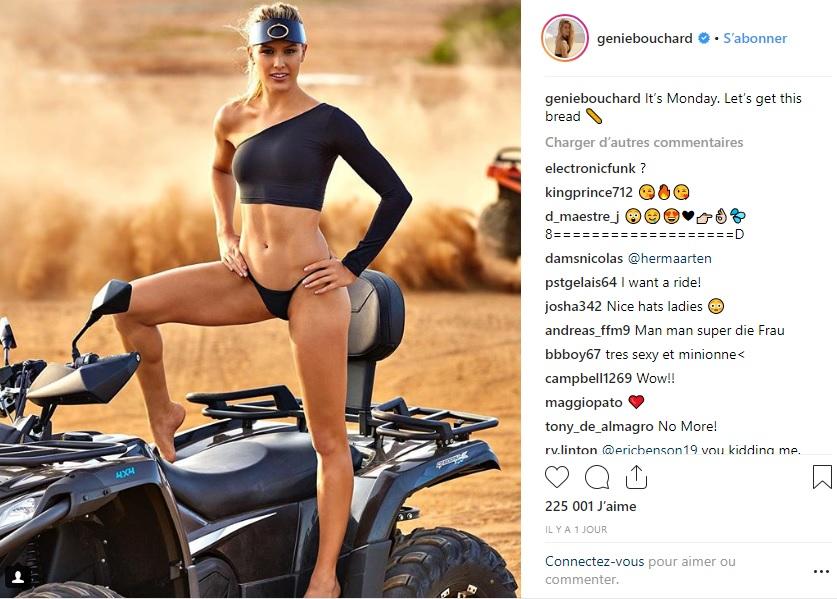 Balade sportive très sexy pour Eugénie Bouchard