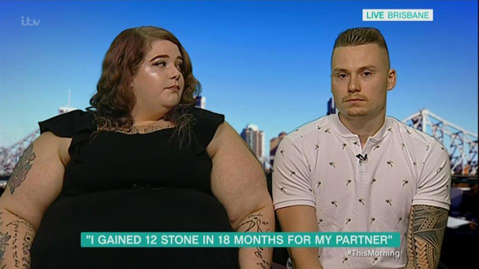 Sex-food Elle grossit de 80 kilos pour plaire à son mari 1