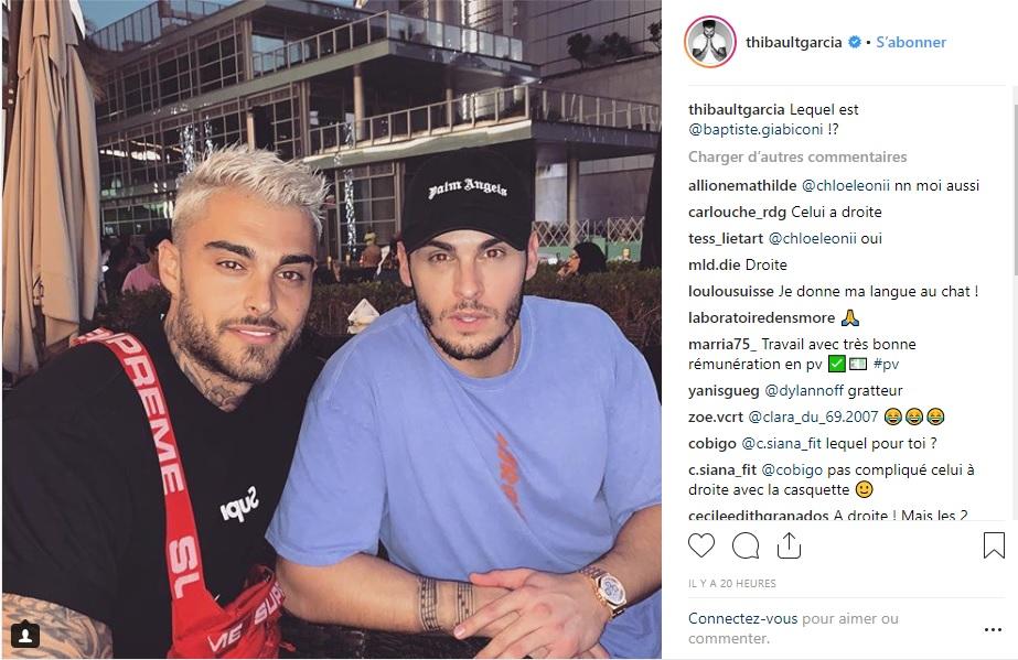 Thibault Garcia et Baptiste Giabiconni posent ensemble : la ressemblance est frappante !