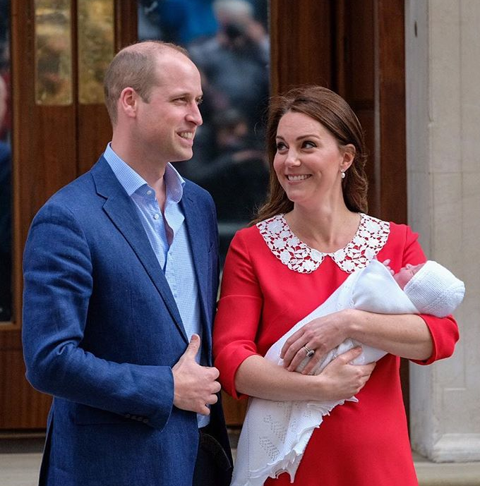 10 – Kate Middleton et le prince William lors de la naissance du prince Louis (Avril 2018)