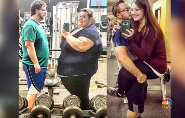 Avant/après: En deux ans, ce couple a perdu 186 kilos ensemble!