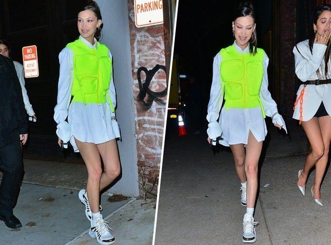 Bella Hadid opte pour le gilet jaune à New York !