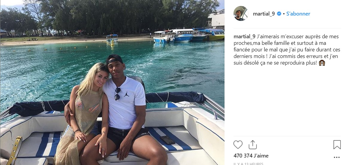 Excuses Anthony Martial