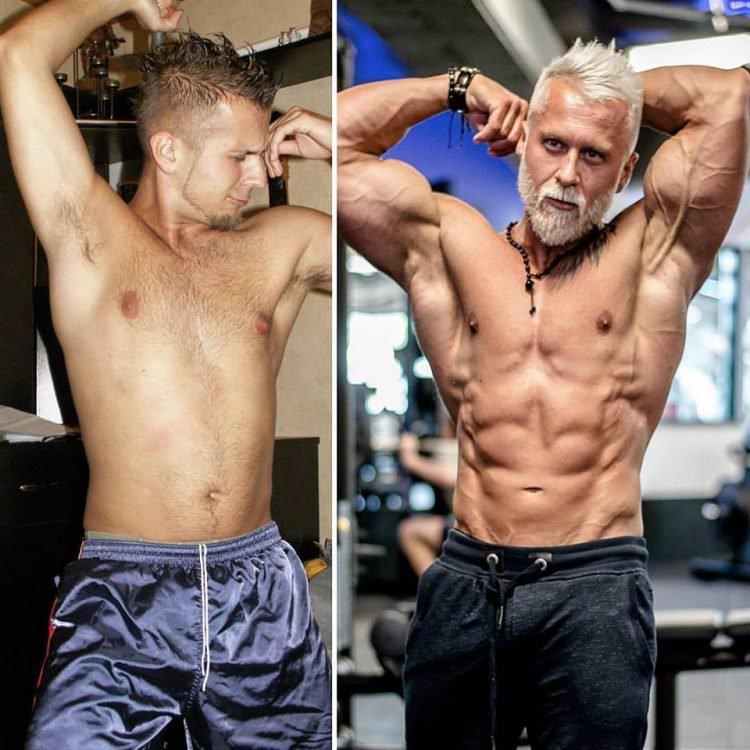 Avant après Coach sportif, il change de look pour paraître plus vieux1