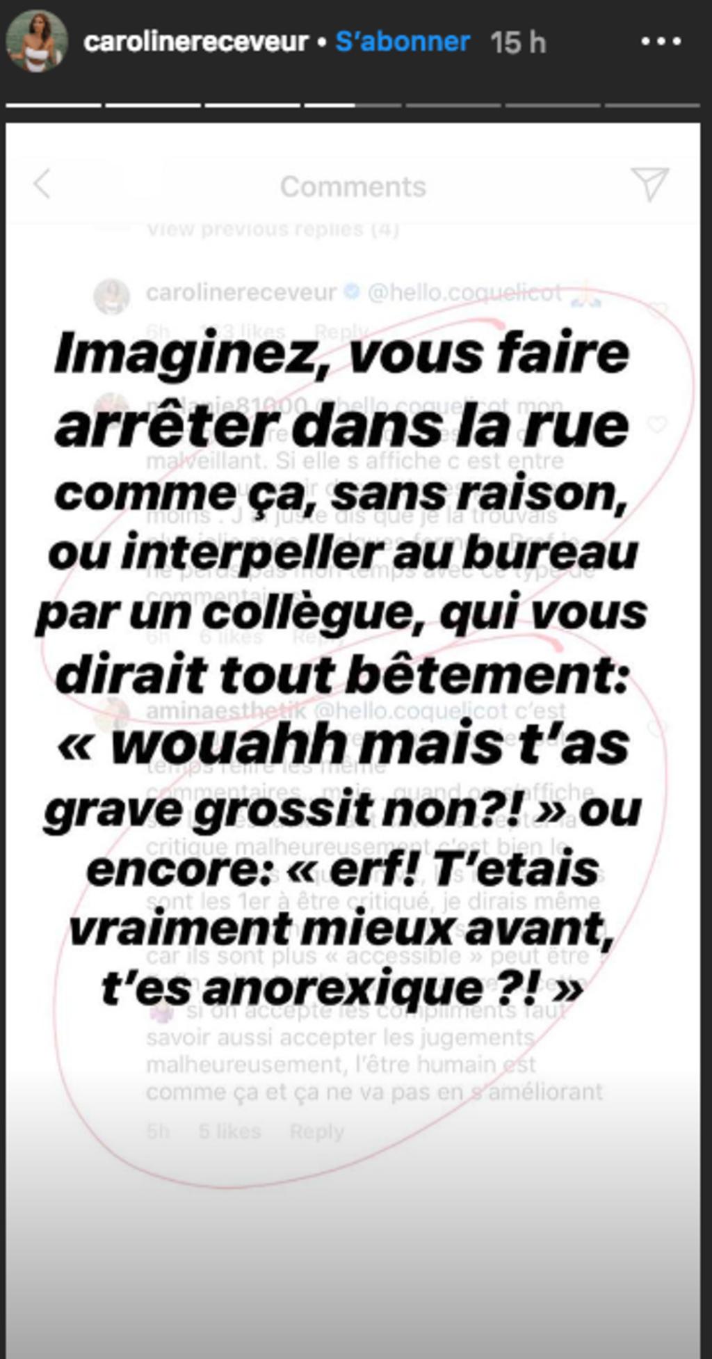 Caroline Receveur traitée d'anorexique : Elle réagit aux violentes critiques