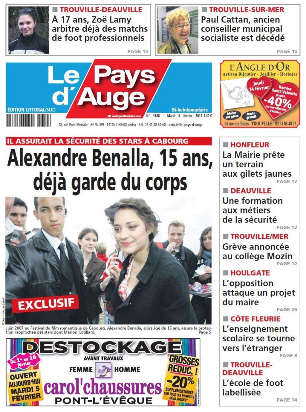 Alexandre Benalla : à 15 ans il jouait au garde du corps pour des acteurs français !