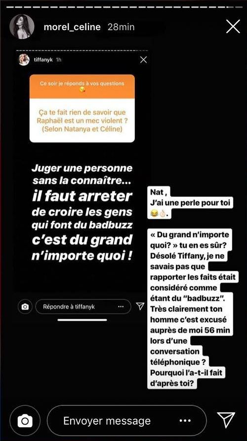 Les Anges 11 : Tiffany défend Raphaël Pépin, Céline Morel la clashe !