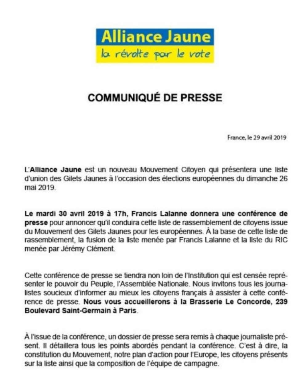 Européennes 2019: Francis Lalanne veut présenter une liste pour rassembler les gilets jaunes