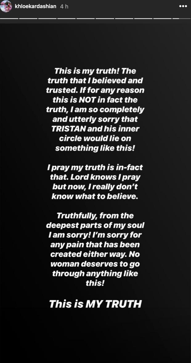 Khloé Kardashian accusée d'être la maîtresse de Tristan Thompson : elle rétablit la vérité !