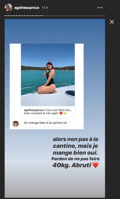 Agathe Auproux : Attaquée sur son physique, elle cloue le bec à un internaute !