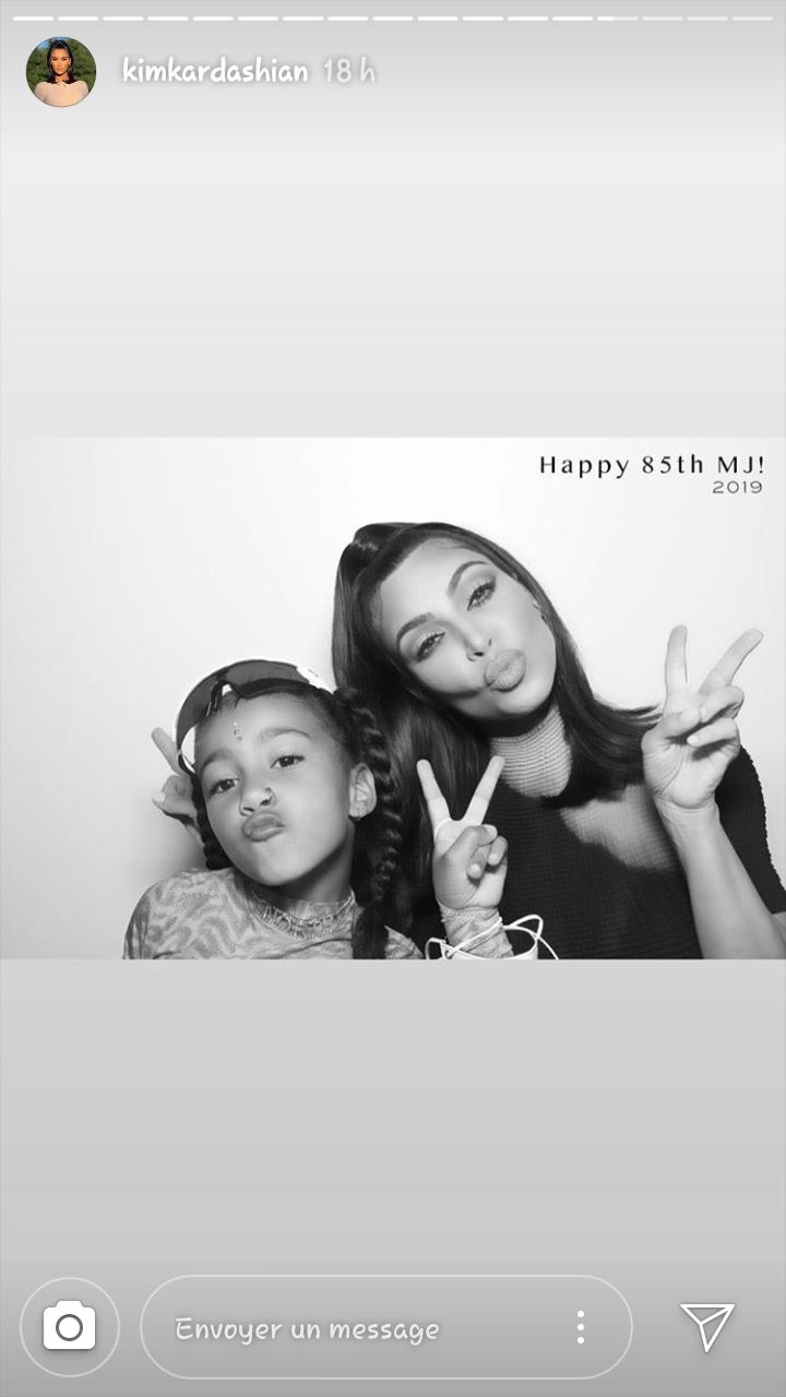 Capture d'écran de la story Instagram de Kim Kardashian