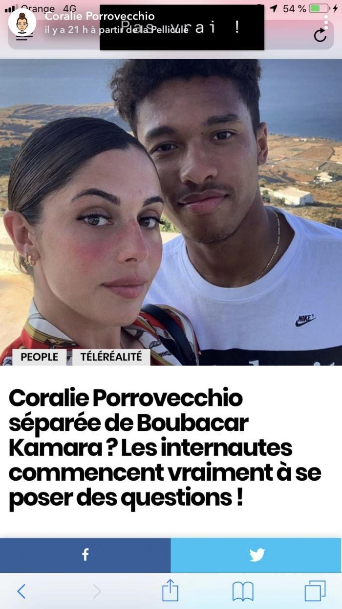 Coralie Porrovecchio toujours en couple avec Boubacar Kamara ? Elle répond à la question