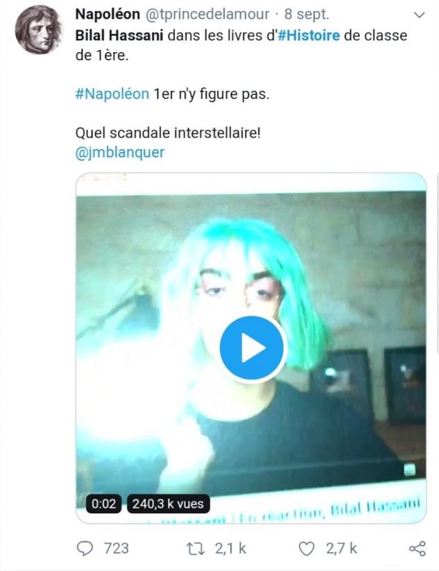 Bilal Hassani a-t-il remplacé Napoléon 1er dans les manuels d'Histoire ? Démêlons le vrai du faux