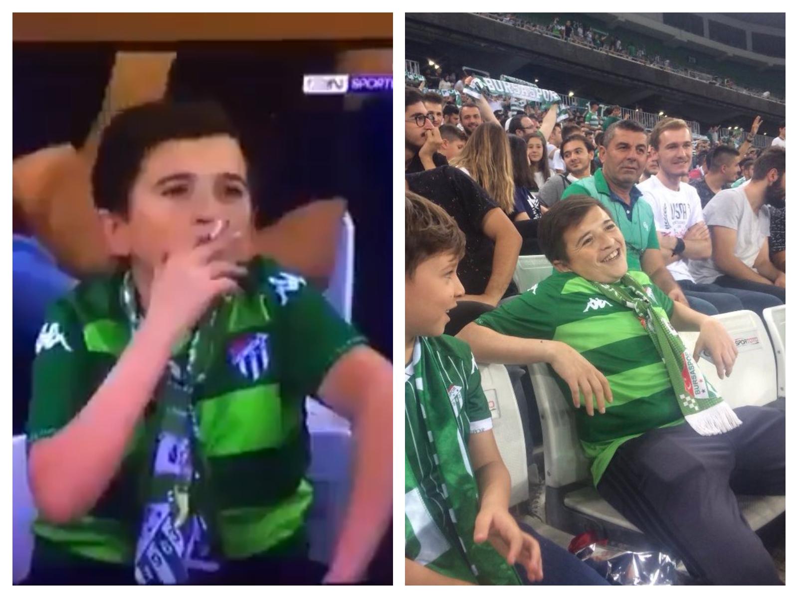 La vérité derrière la vidéo de «l'enfant» en train de fumer lors d'un match de football