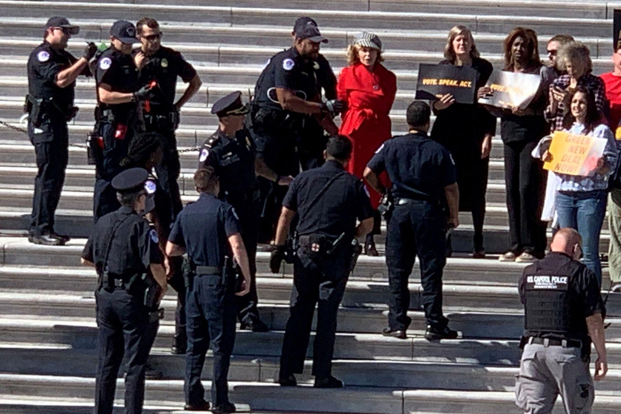 Jane Fonda révèle les détails de son arrestation à Washington