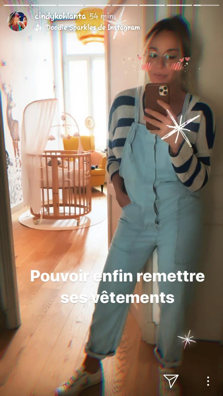 Capture d'écran de la story instagram de Cindy