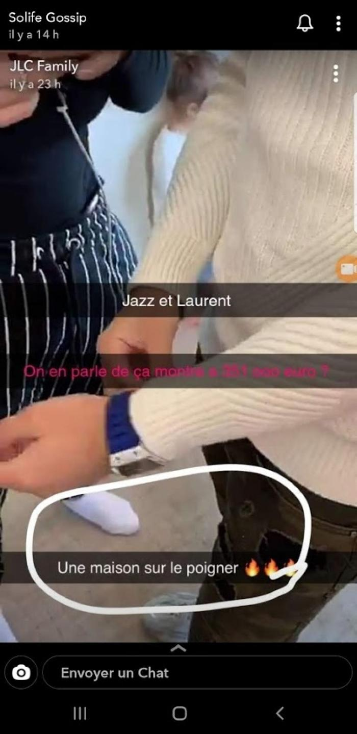 Jazz et Laurent snapchat